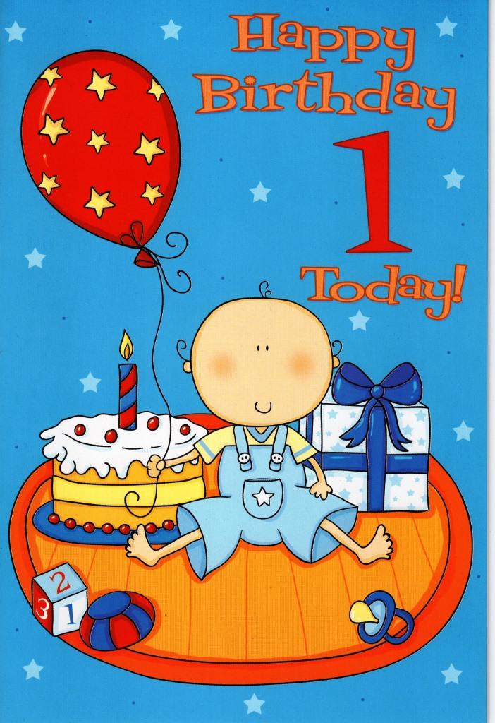 1st Birthday Card Boy Age Birthday Card Baby Boy