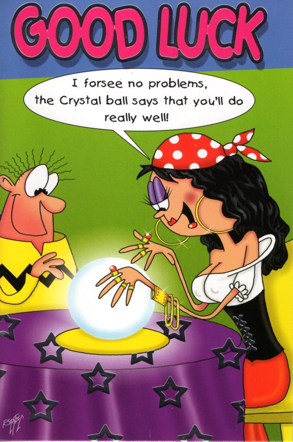 Good Luck Funny Good Luck Funny Crystal Ball