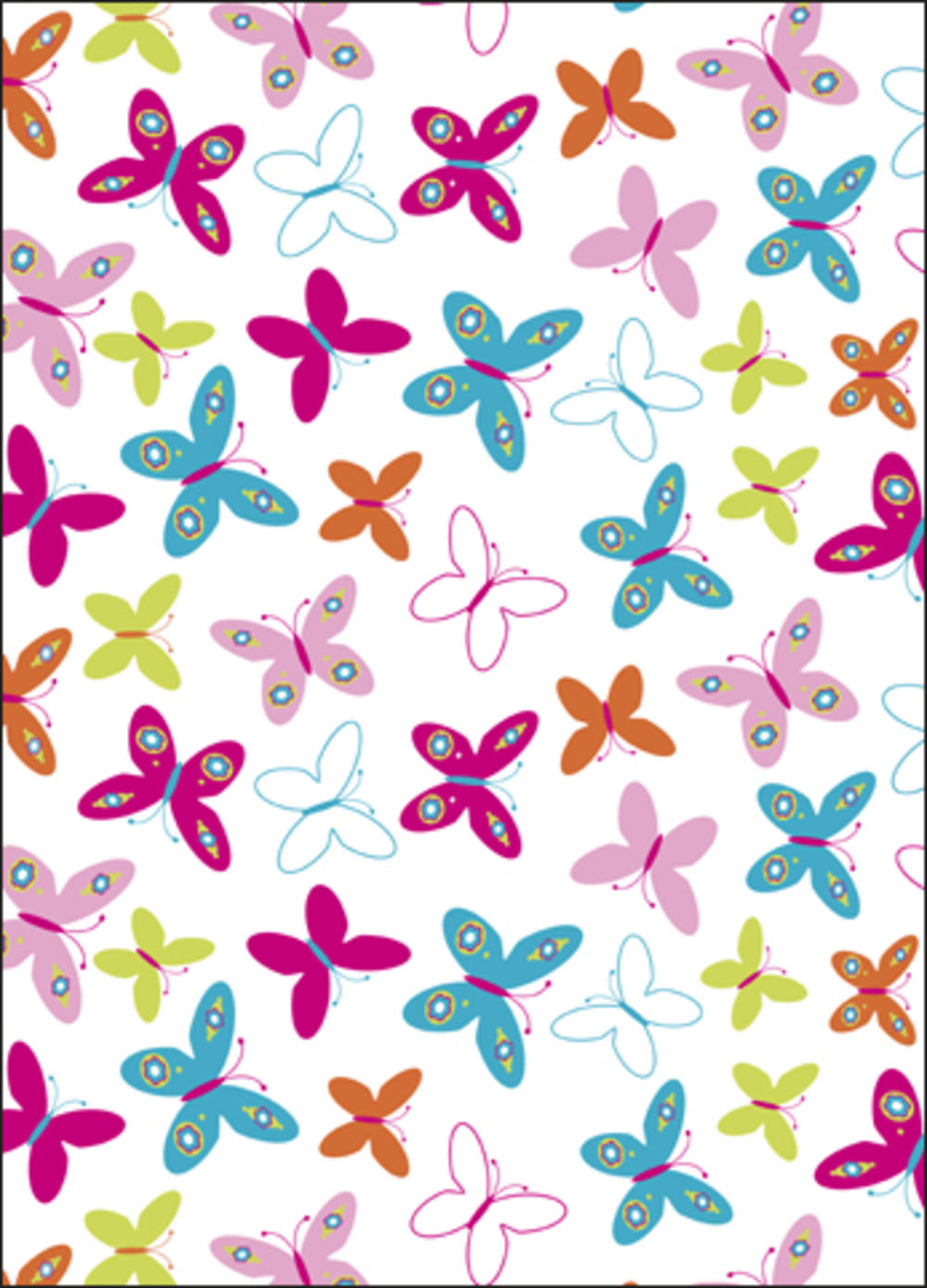 Pretty Butterfly Wrapping Paper Set Gift Wrapping Love Kates