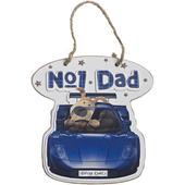 Boofle No. 1 Dad Blue Car Plaque Gift