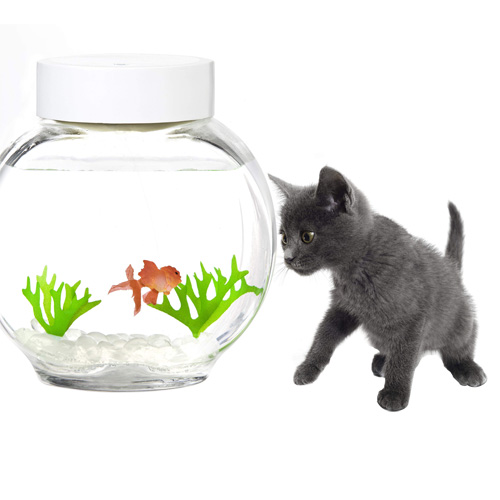 ... LIKE PET SWIMMING FISH AND GLASS GOLDFISH BOWL FUN GIFT TANK eBay