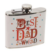 Best Dad In The World Hip Flask In a Gift Box