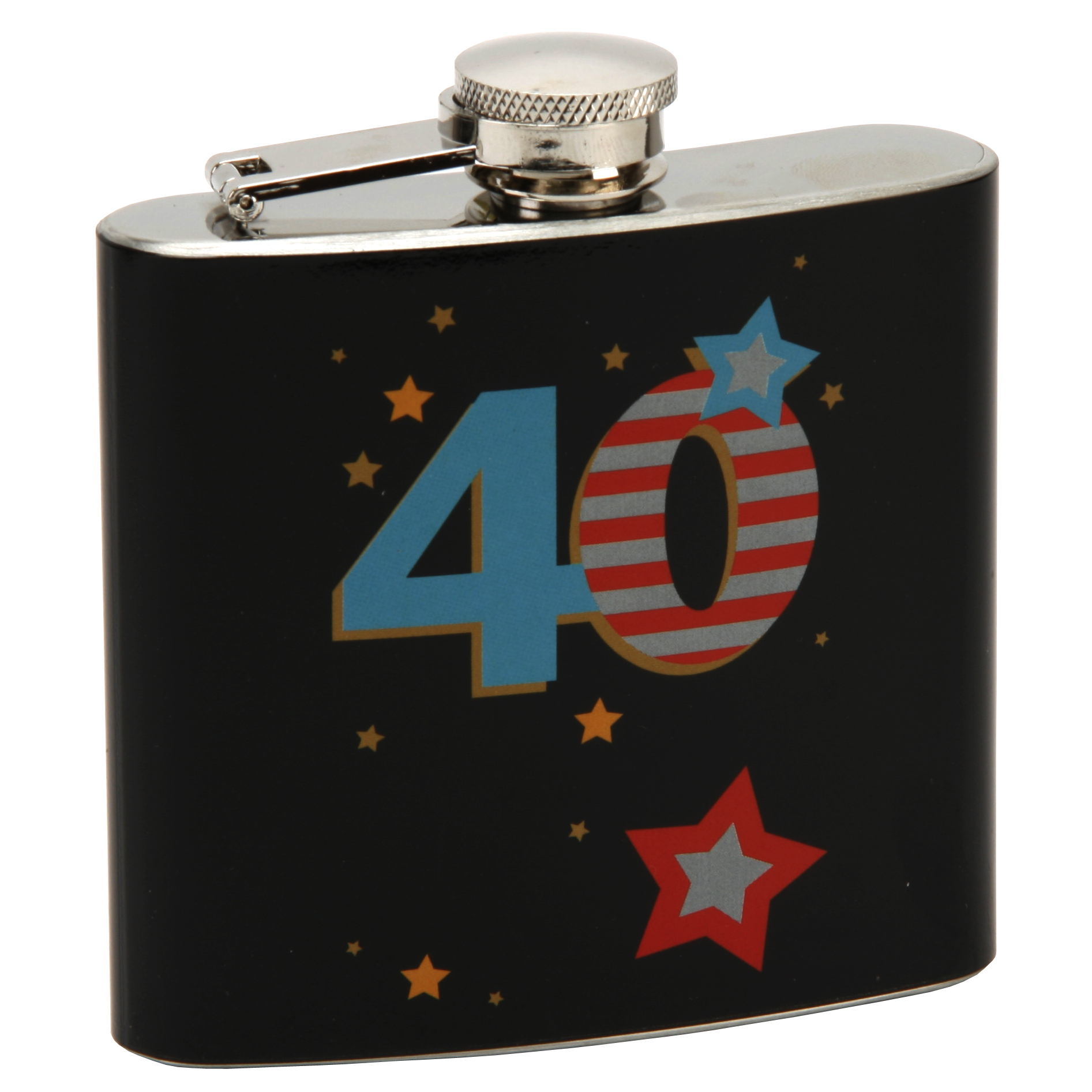 40th Birthday Hip Flask In Gift Box By Talking Pictures