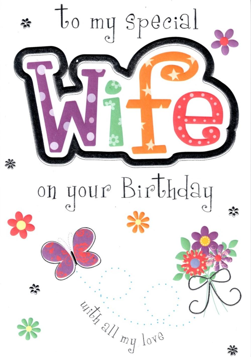 special wife birthday card  cards  love kates, Birthday card