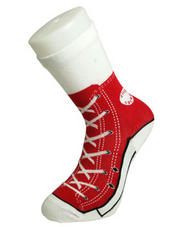 Red Sneaker Silly Socks Funny Novelty Sock Gift Idea