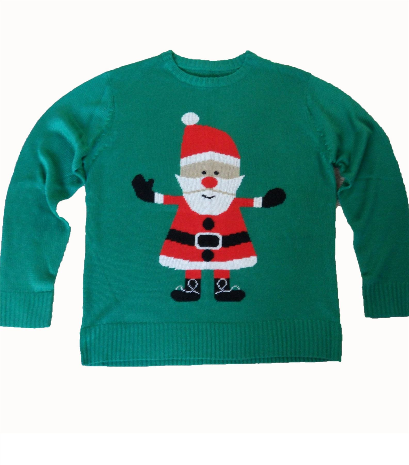 kids simply santa christmas jumper genuine crazy granny. Black Bedroom Furniture Sets. Home Design Ideas