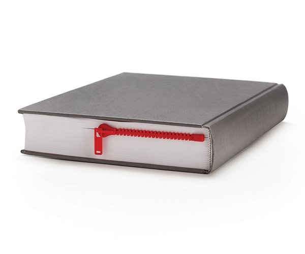 Zipmark in Red Zipper Bookmark Looks like a Zip That Keeps You Page Book Mark