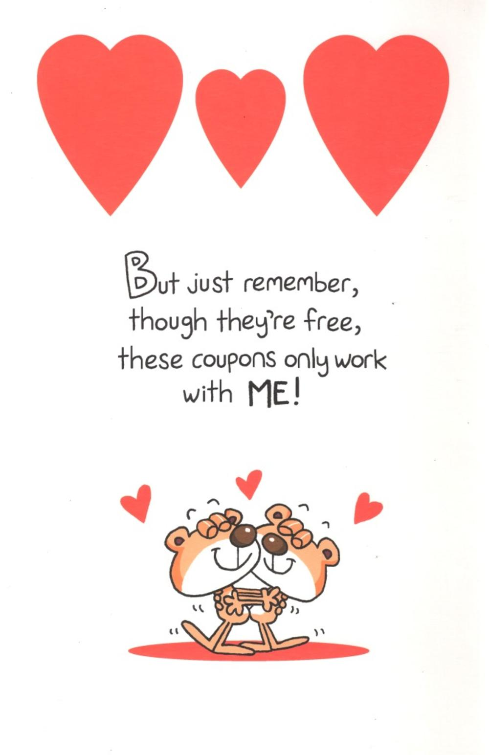 husband valentine's day card with coupons  cards  love kates