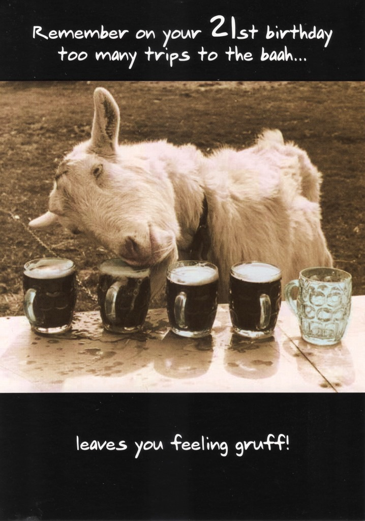 Funny 21st Birthday Greeting Card Goat Too Many Trips To ...