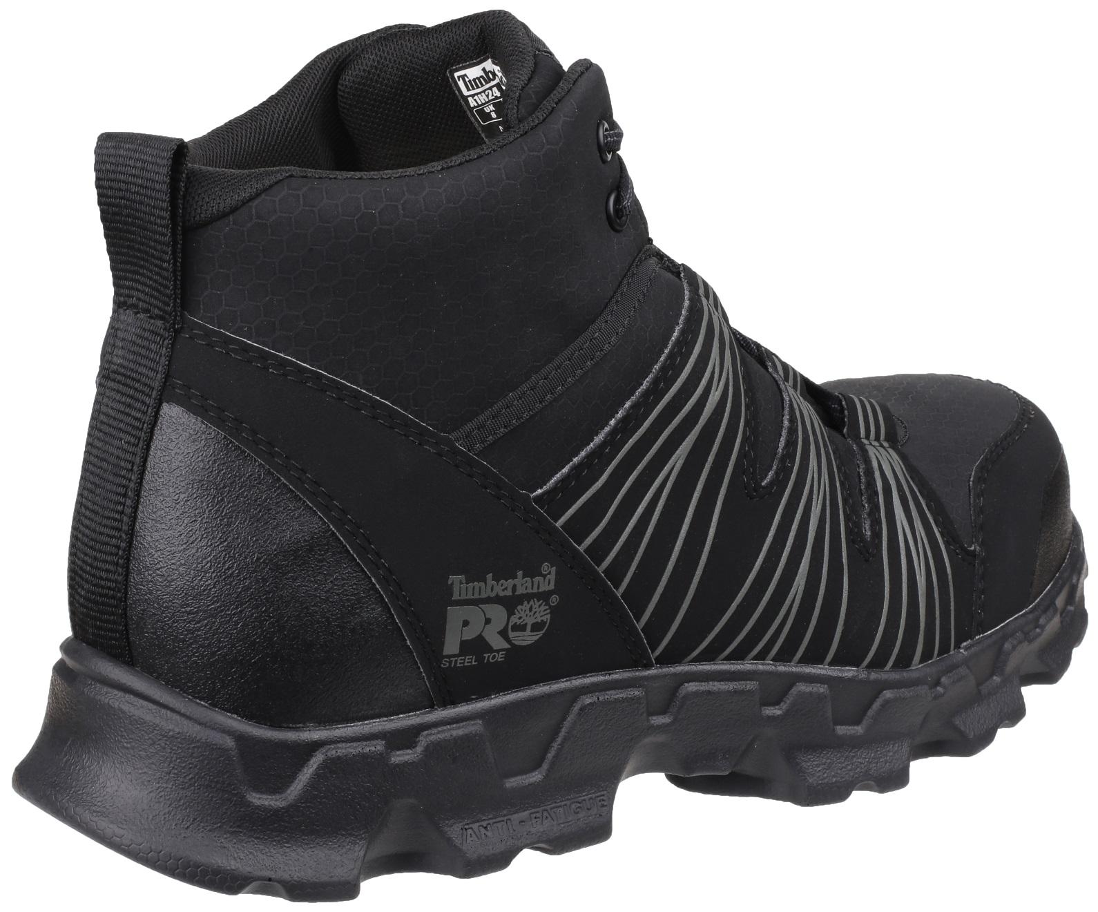 Timberland Pro Powertrain Mid Safety Work Boots Black Anti