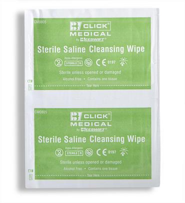 Click Medical Saline Wipes 100 Pack  Thumbnail 2