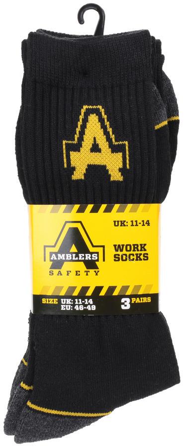 Amblers Work Socks 3 Pair Pack Thumbnail 2