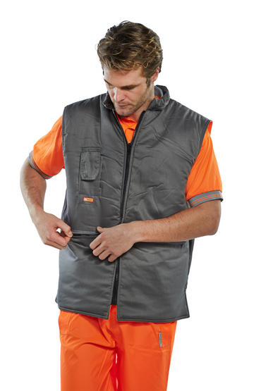 Be Seen Hi Viz Reversible Bodywarmer  Thumbnail 4