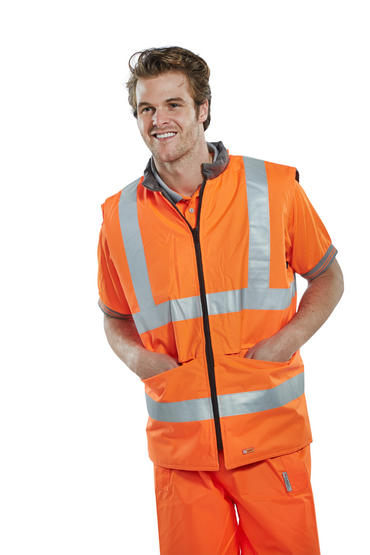 Be Seen Hi Viz Reversible Bodywarmer