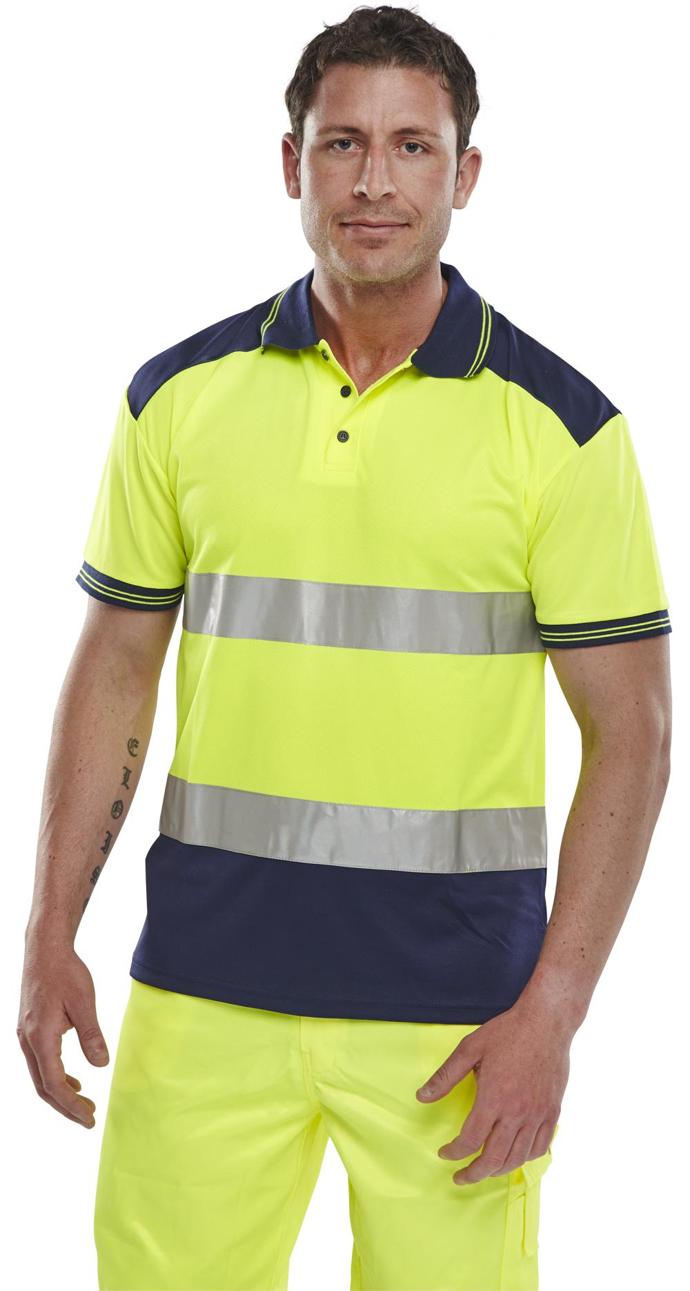 Hi viz polo shirt the safety shack for Hi viz running shirt