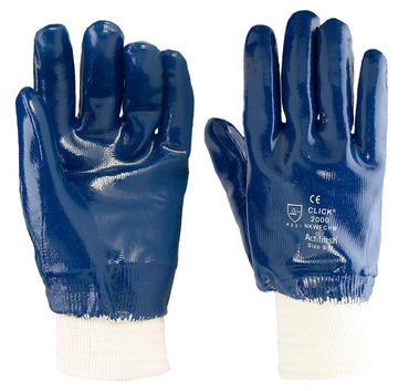 Click Blue Nitrile Heavy Duty Gloves 10 Pair Pack