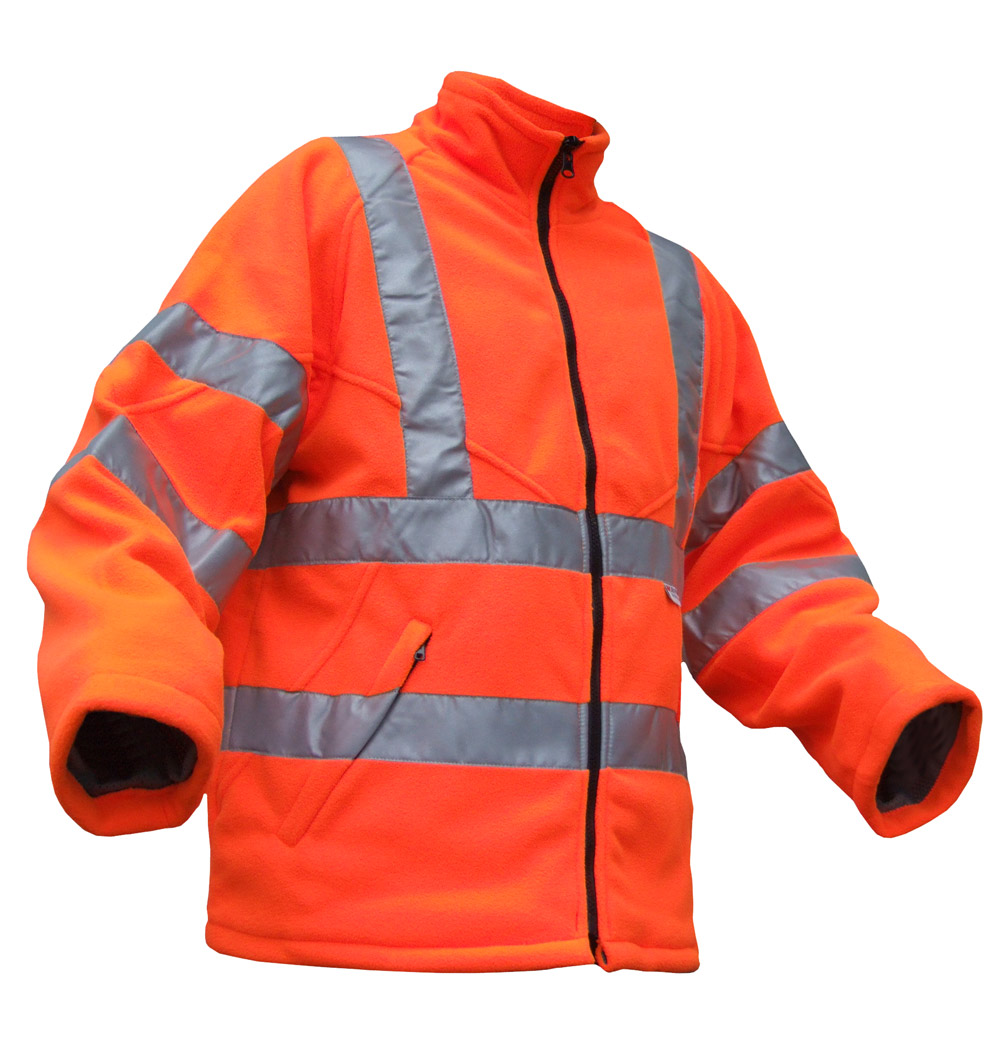 Be-Seen-Hi-Viz-High-Visibility-Fleece-Jacket-Orange-Yellow-EN471-GO-RT-3279-3M
