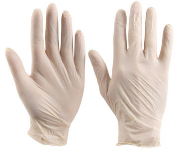 Click Latex Pre Powdered Disposable Gloves 100 Pack