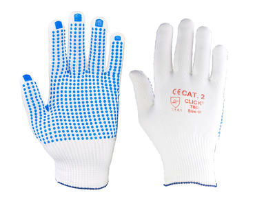 Click Tronix Nylon Glove Latex Dotted Palm
