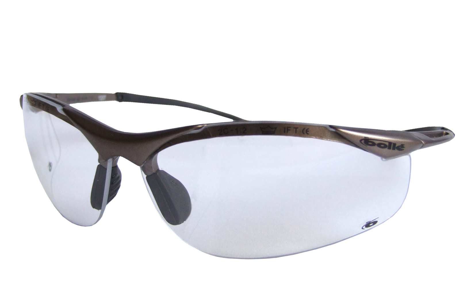 bolle contour safety specs glasses clear lens free bag 20g