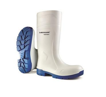 Dunlop Purofort Welly White Thumbnail 1