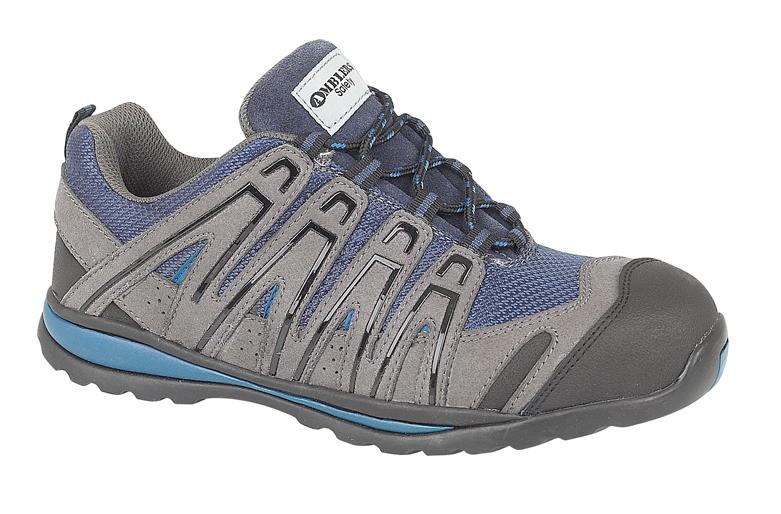 Amblers FS34C Seguridad Zapatillas Zapatos Divisor & Entresuela Azul Gris Y Negro 6-12