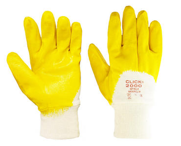 Click Nitrile Dipped Gloves Yellow 10 Pack