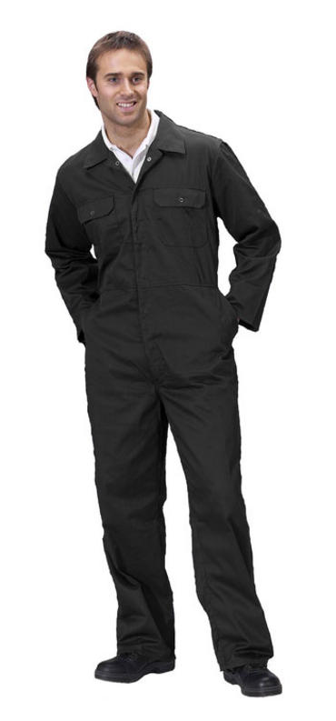 Click Polycotton Boilersuit Black