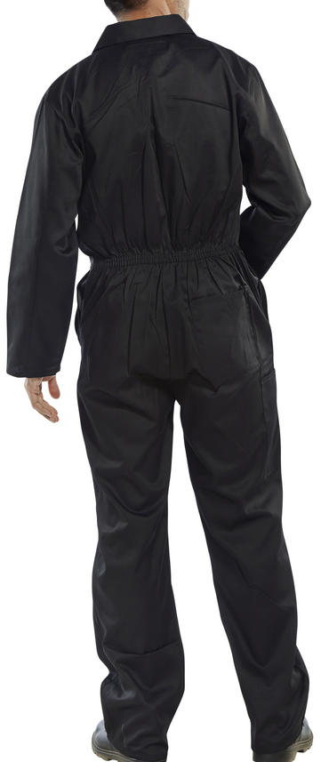Click Polycotton Boilersuit Black Thumbnail 2