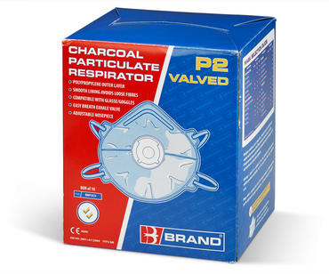 P2V Charcoal Dust Masks Valved 10 Pack Thumbnail 2