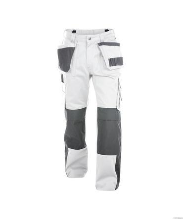 Dassy Seattle Work Trousers White/Grey