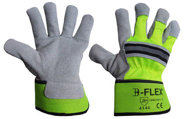 Click B Flex Hi Viz Rigger Gloves 10 Pair Pack  Thumbnail 1