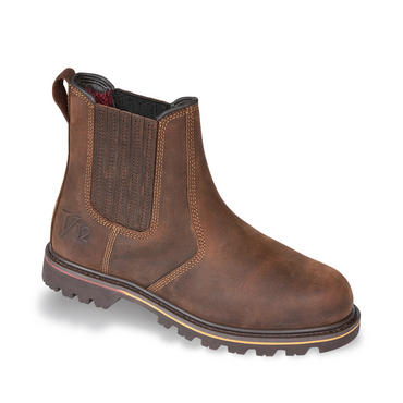 V12 Rancher Brown Leather Non Safety Chelsea Dealer Boot