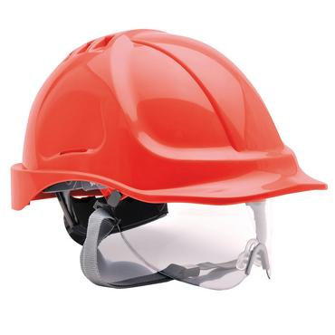 Portwest PW55 Safety Helmet with Integral Visor Thumbnail 2