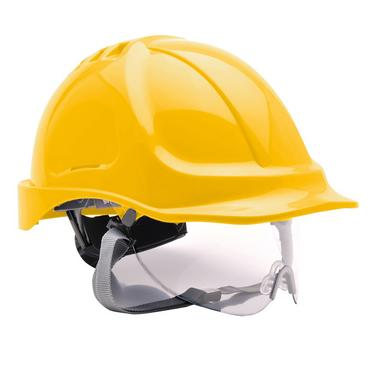 Portwest PW55 Safety Helmet with Integral Visor Thumbnail 4