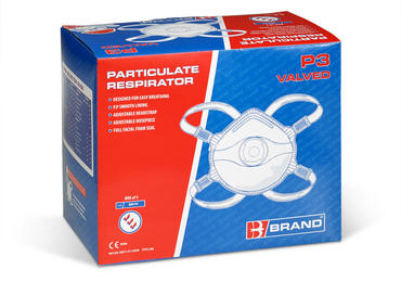 B Brand P3 Valved Dust Masks 60 Pack Thumbnail 2
