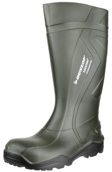 Dunlop Purofort + Full Safety Welly Green  Thumbnail 5