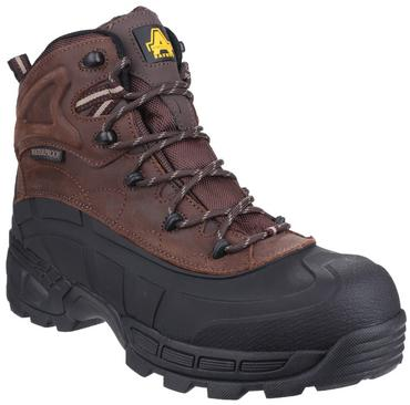 Amblers FS430 Orca Waterproof Safety Work Boots Brown