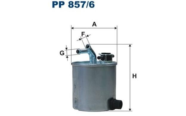 Filtron Fuel Filter Nissan Navara Pathfinder Pp857  6