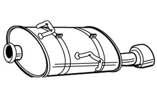 walker endschalld mpfer f r peugeot 206 cc 2 0 s16 ebay. Black Bedroom Furniture Sets. Home Design Ideas