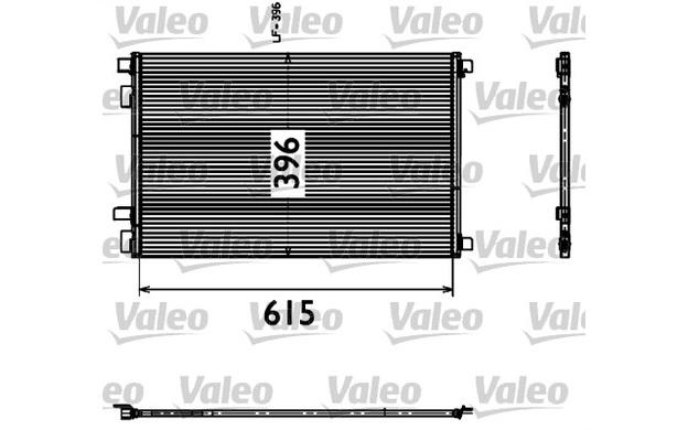 valeo condenser  air conditioning renault megane scenic 817608