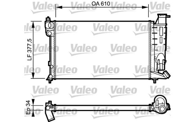 valeo radiator  engine cooling peugeot 306 expert citroen