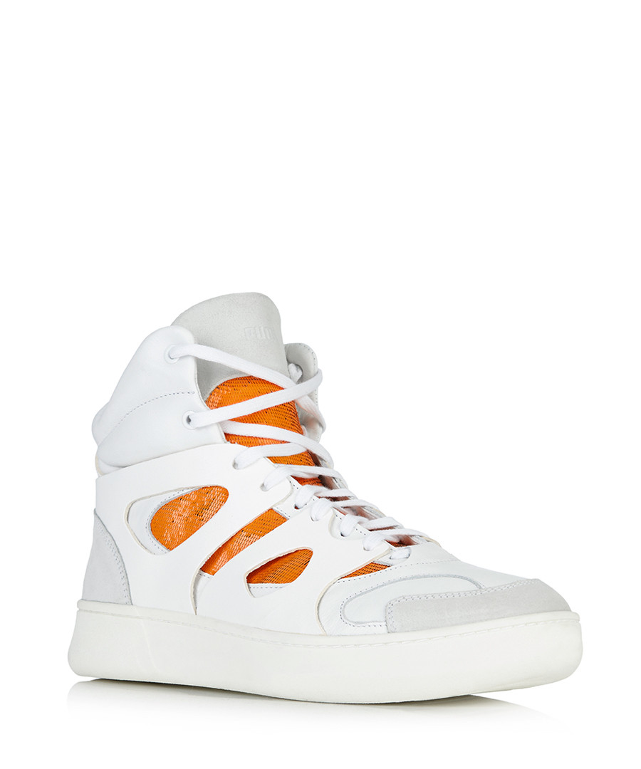 by mcqueen mens move hi top trainers white
