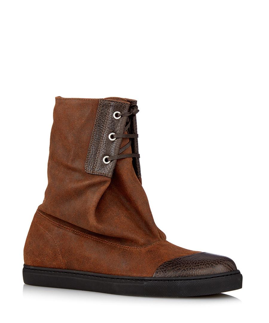 vivienne westwood mens peron brick leather ankle boots