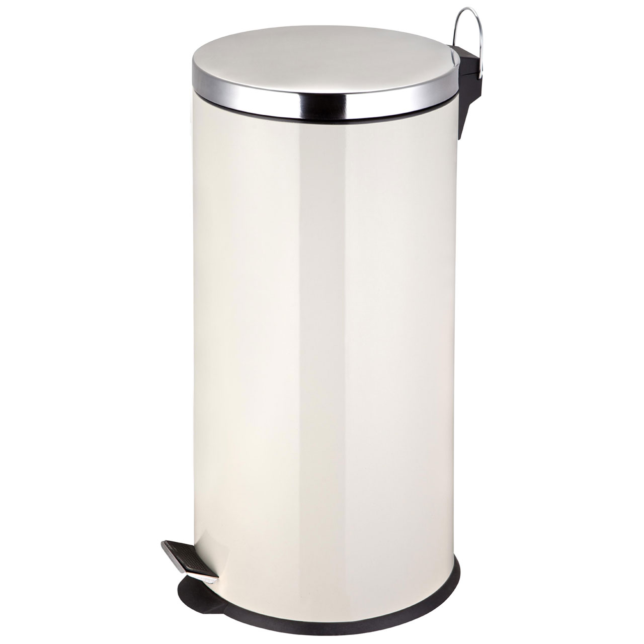 Black Kitchen Bin Sale: Round 30 Litre Pedal Kitchen Waste Bin Stainless Steel