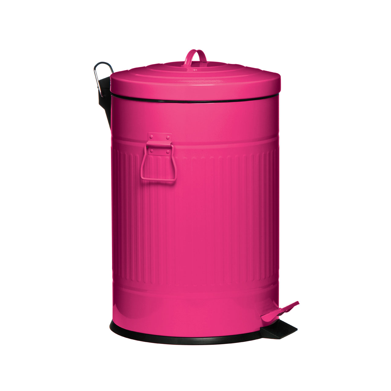 20 litre round kitchen pedal dust bin trash can galvanised steel plastic inner ebay. Black Bedroom Furniture Sets. Home Design Ideas