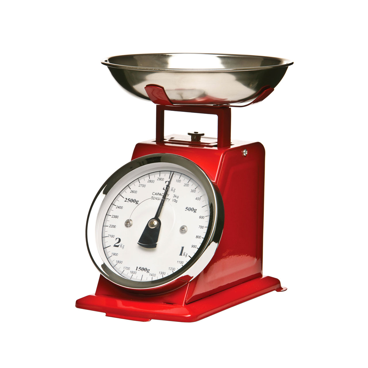 retro traditional kitchen scale stainless steel 3kg baking