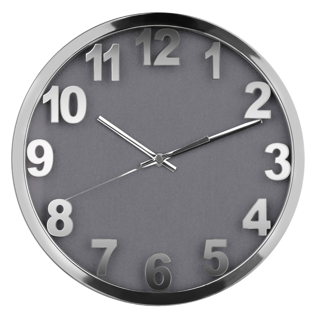 Wall Clock Stainless Steel With A Silver Face Stainless