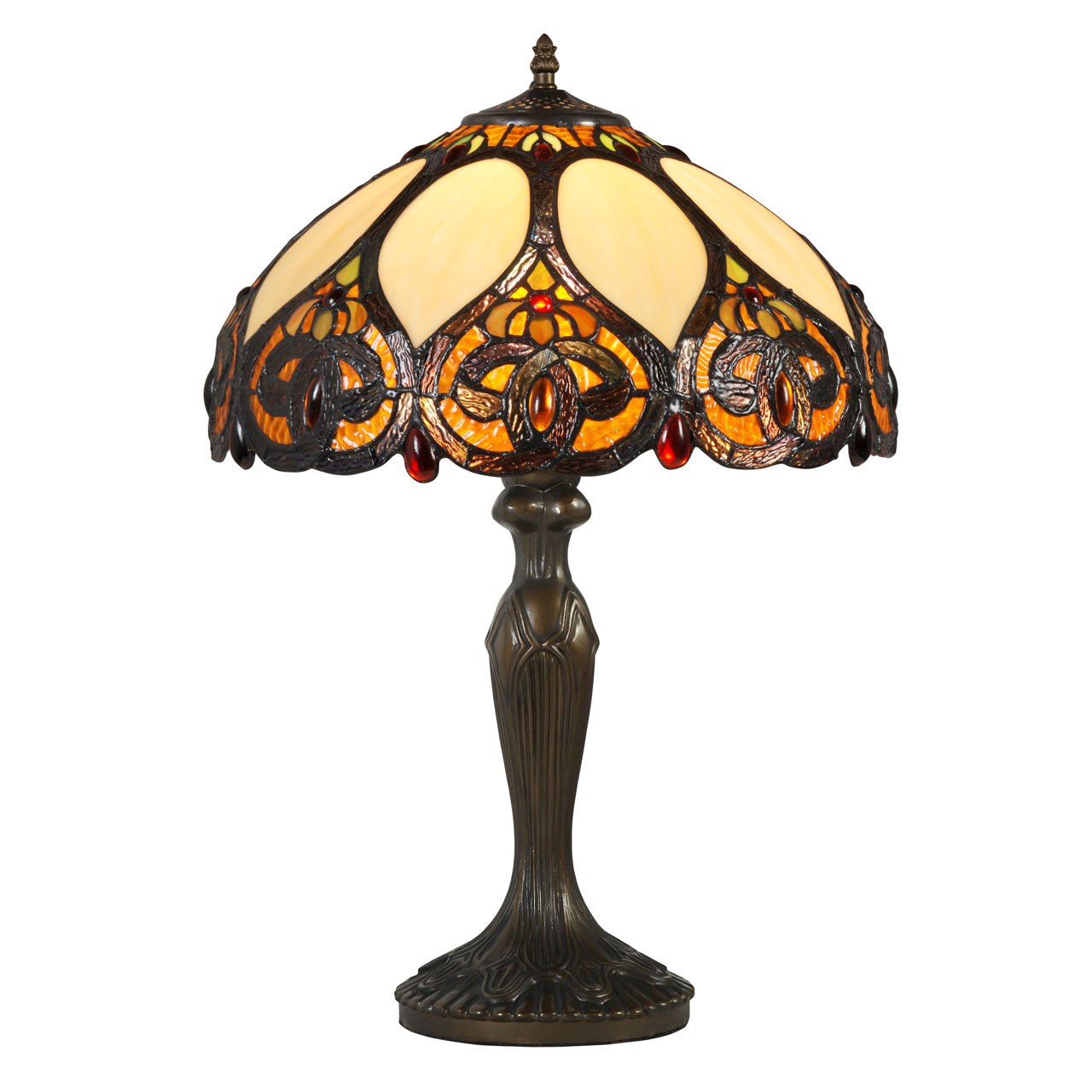 60cm high trinity table lamp light tiffany style glass shade ebay. Black Bedroom Furniture Sets. Home Design Ideas
