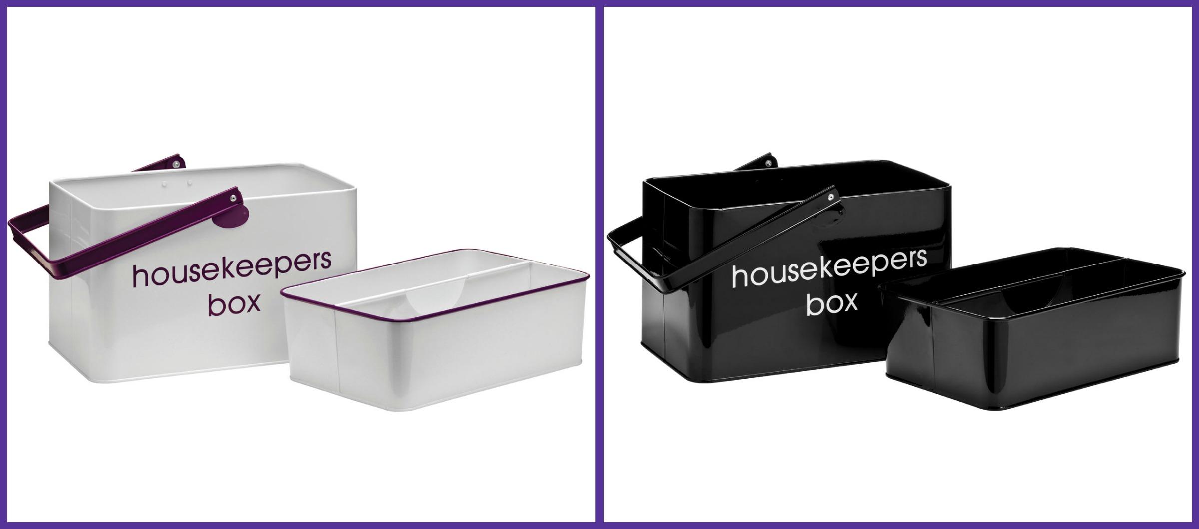 Image Is Loading Enamel Storage Box Housekeeper Carry Tray Tidy